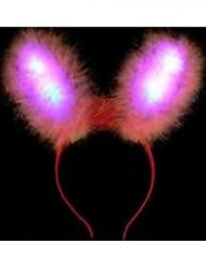 Orelhas de coleho cor-de-rosa LED
