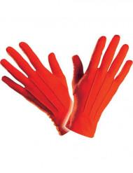 Luvas curtas vermelhas adulto