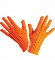 Luvas curtas cor de laranja adulto