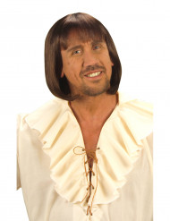 Peruca medieval Castanho Homem