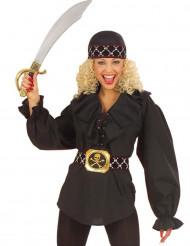 Blusa preta pirate mulher