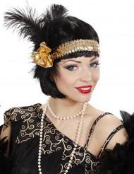Bandolete charlestone dourado com lantejoulas para mulher