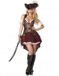 Disfarce pirata aventureira mulher