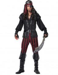 Disfarce de pirata às riscas homem