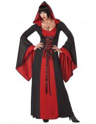 Disfarce vestido maléfico com capuz mulher