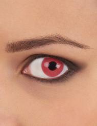 Lentes fantasia olho cor-de-rosa adulto