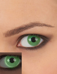 Lentes fantasia UV verde adulto