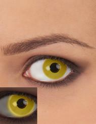 Lentes fantasia UV amarelas adulto
