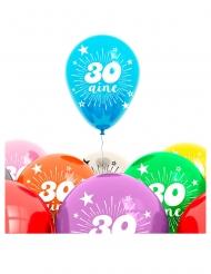8 Balões aniversário 30 anos