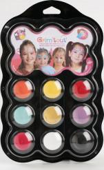 Palete de 9 cores para maquilhagem de Princesas Grim