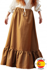 Saia camponesa medieval mulher
