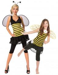 Disfarce de casal abelha para Mãe e filha
