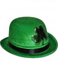 Chapéu verde com trevo São Patrício
