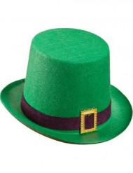 Chapéu alto verde São Patrício