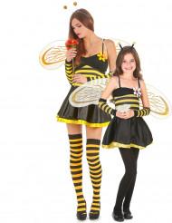 Disfarce de casal abelha Mãe e filha