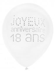 8 Balões aniversário chique 18 anos