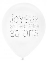 8 Balões aniversário chique 30 anos