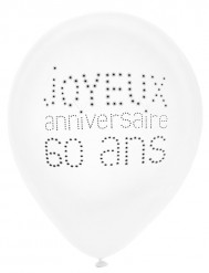8 Balões aniversário chique 60 anos