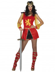 Disfarce cavaleiro mulher
