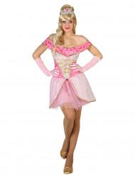 Disfarce de princesa rosa sexy mulher