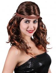 Peruca ruiva índia mulher