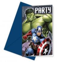 6 cartas de convite Avengers™