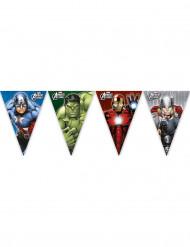 Grinalda de bandeirolas plástico Avengers™