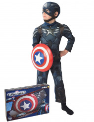 Disfarce Captain America The Winter Soldier™ criança coffret