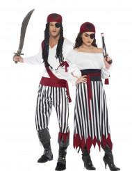 Disfarce pirata listrado para casais!