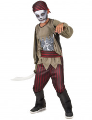 Disfarce pirata zumbi rapaz