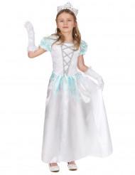 Disfarce princesa branca rapariga
