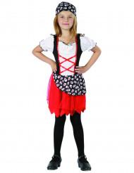 Disfarce pirata para rapariga