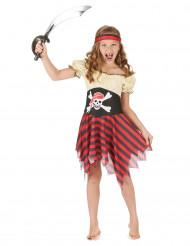 Disfarce pirata rapariga