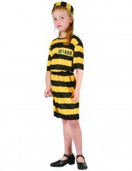 Disfarce prisioneira amarelo rapariga