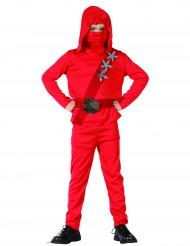 Disfarce ninja vermelho rapaz
