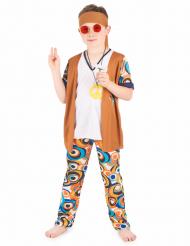 Disfarce hippie menino