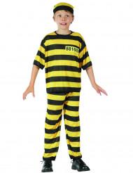 Disfarce prisioneiro amarelo rapaz