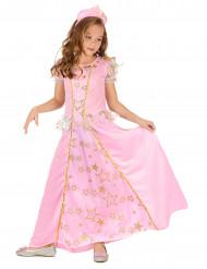 Disfarce princesa cor de rosa rapariga