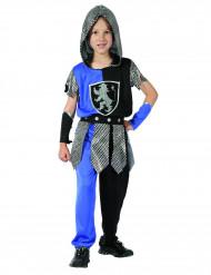 Disfarce cavaleiro azul rapaz