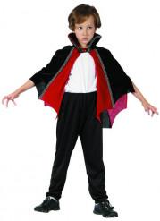 Capa de vampiro vermelho e preto criança