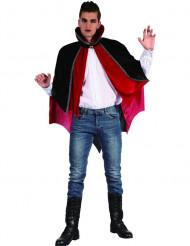 Capa de vampiro vermelho e preto