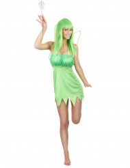 Disfarce fada verde mulher