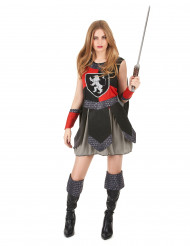 Disfarce cavaleiro medieval mulher