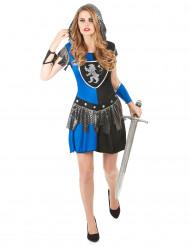 Disfarce cavaleira azul mulher