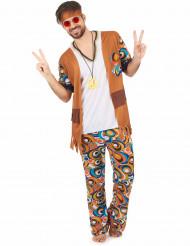 Disfarce de hippie groovy homem