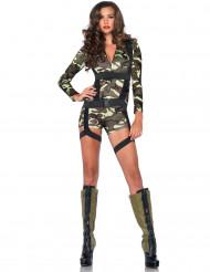 Disfarce militar curto mulher