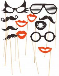 Kit Photobooth óculos e bigodes
