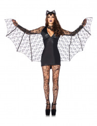Disfarce morcego sexy mulher Halloween