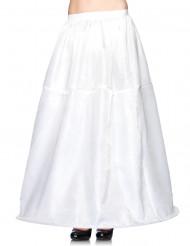 Saiote comprido branco com arco mulher