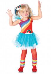 Disfarce Arco-íris menina